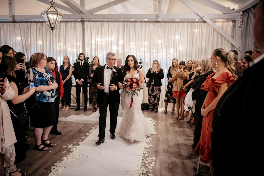 Melbourne Indoor Wedding Ceremony - Bramleigh Estate r2